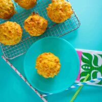 carrot cheese chive muffins