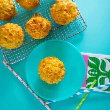 Carrot, cheese and chive muffins