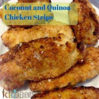 coconut and quinoa chicken strips