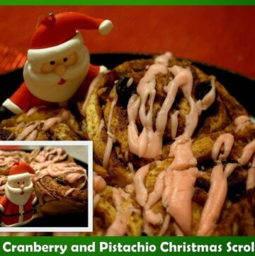 Cranberry and Pistachio scrolls