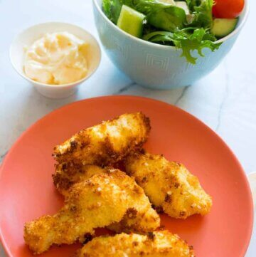 coconut and quinoa chicken strips