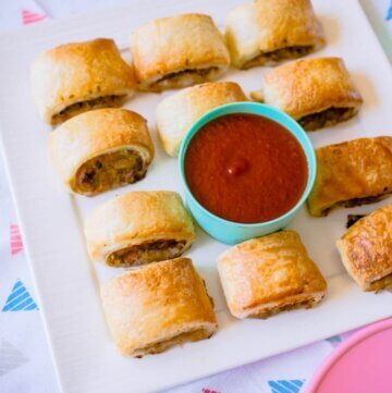 healthy beef and veggie sausage rolls