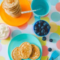 Wholemeal, dairy free pikelets