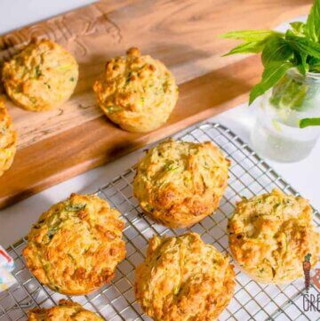 Haloumi, Zucchini and Mint Muffins