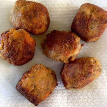 crunchy quinoa and rice arancini balls