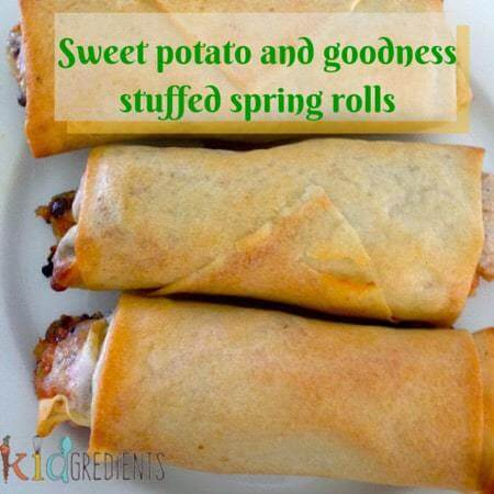 Sweet potato and goodness stuffed spring rolls - Kidgredients