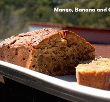 Mango, Banana and Coconut Bread