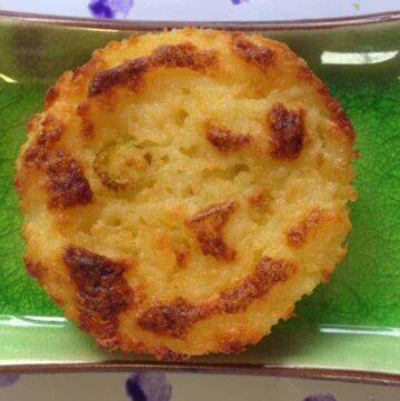 Sour cream and cheese potato cakes