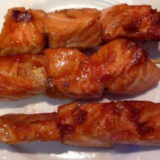 yakitori salmon skewers