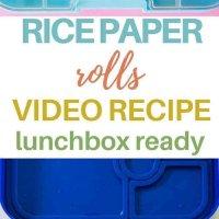 rice paper rolls pinterest image