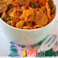 sausage and pea pasta sauce