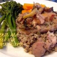 lemon and herb slow cooker chicken