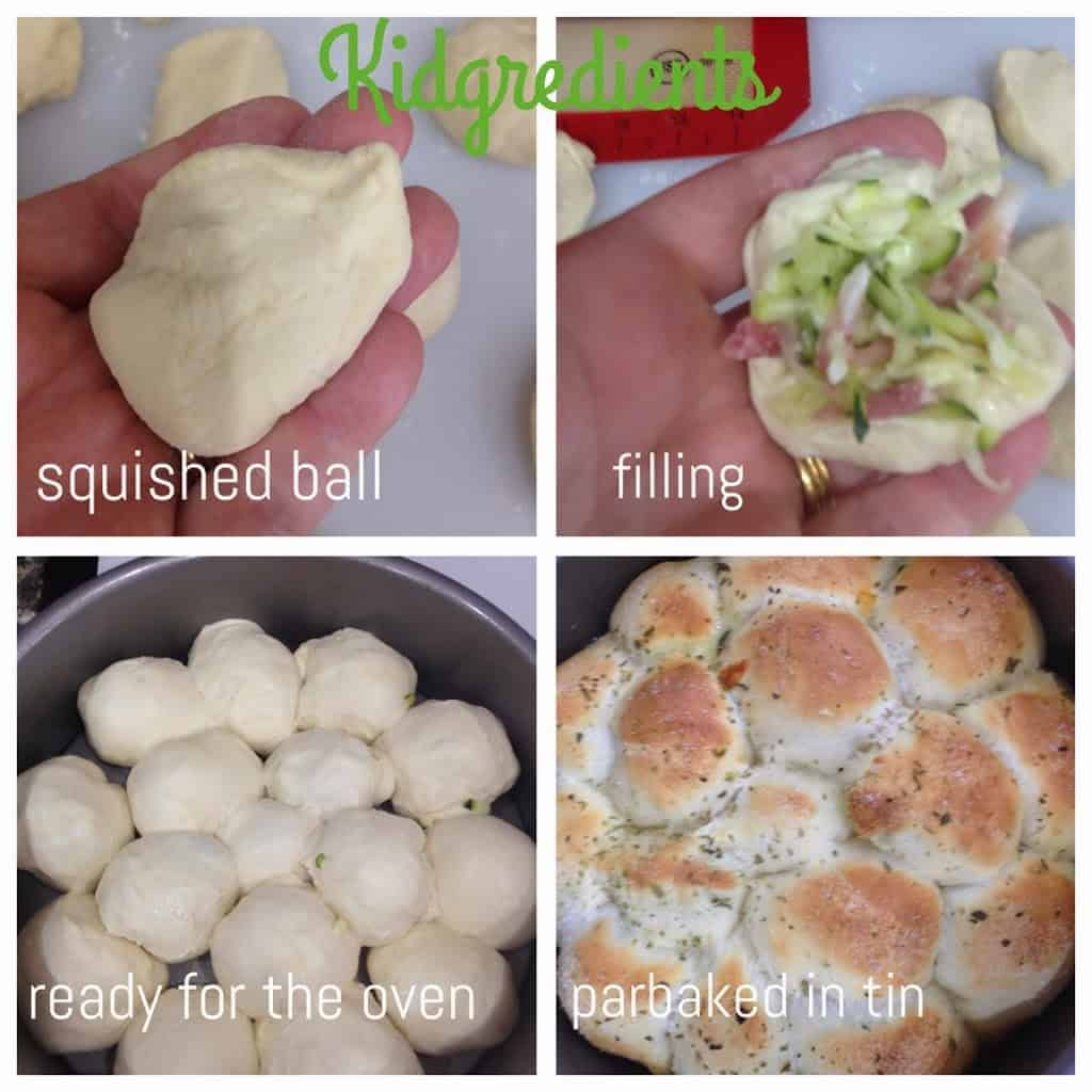 stuffed pizza dough balls