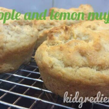 Apple and lemon muffins and a review of the KiddiKutter