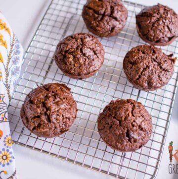 Chocolate zucchini cupcakes- dairy free