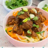 lemongrass beef with noodles