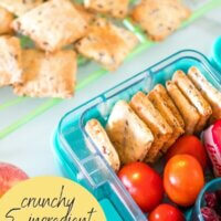 crunchy 5 ingredient cheese crackers