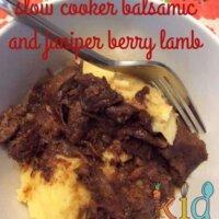 slow cooker balsamic and juniper berry lamb