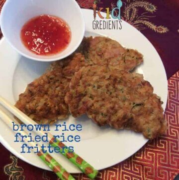 Brown rice fried rice fritters