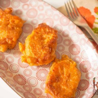 sweet potato and apple fritters
