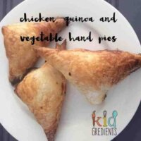 chicken, quinoa and vegetable hand pies
