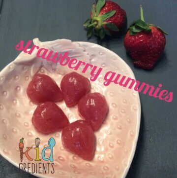 Strawberry gummies