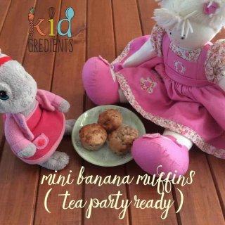 tea party mini banana muffins