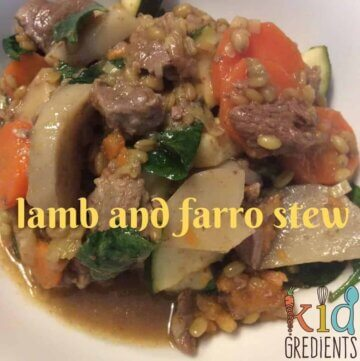 Lamb and farro stew