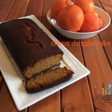Citrus drizzle cake
