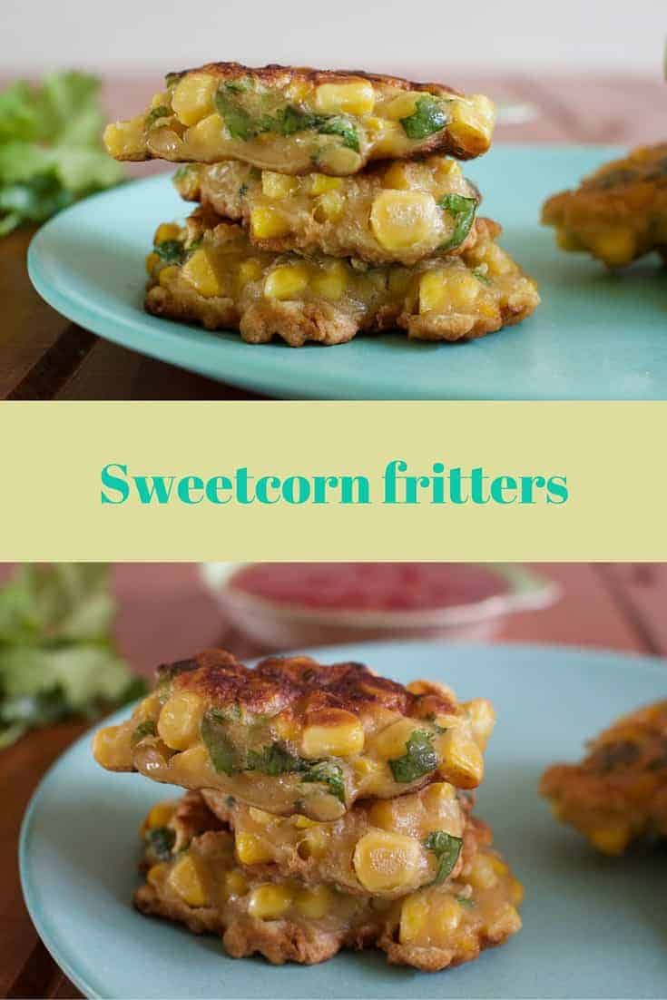 Delicious sweetcorn fritters, perfect as a side, a vegetarian entree or in the lunchbox!