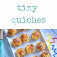 Teeny tiny quiches, these are the easiest lunchbox item you can make! Easy recipe that's a kid friendly party food!