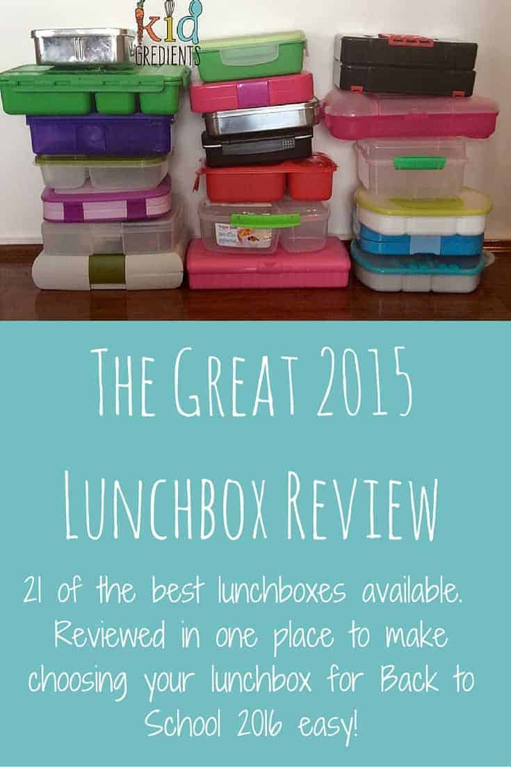 The Great 2015 Lunchbox Review, 21 lunchboxes, investigated in and out, to make back to school easy for you!