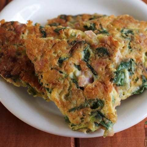 Green Veg and Ham Fritters