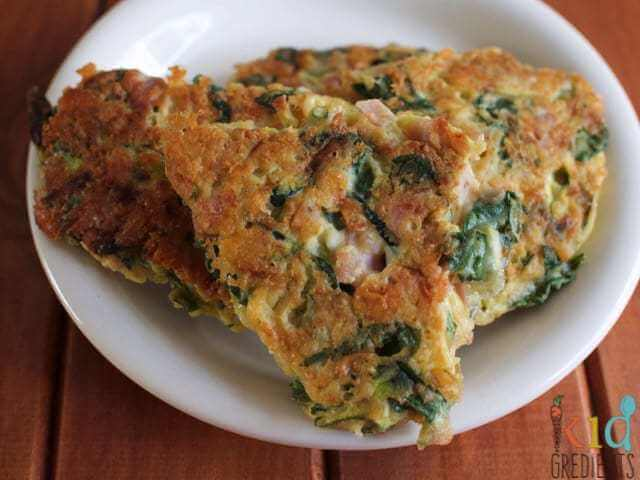 green veg and ham fritters recipe