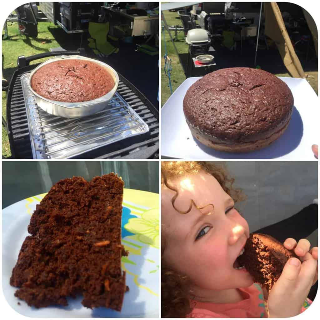 carrot cacao bbq cake