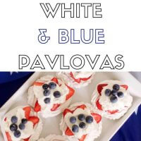 Red white and blue kids pavlovas- easy to make, fun to decorate!