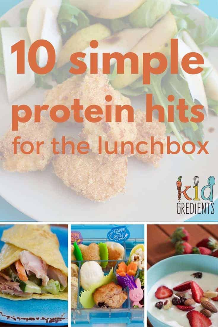 Looking for simple ways to add extra brain fuel to the lunchbox? Look no further, recipes and ideas for a protein hit to keep the kids going until hometime!