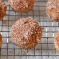 baked cinnamon mini donut holes