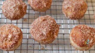 Baked mini cinnamon donut holes- Kids Kitchen