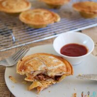 lamd and veggie pies