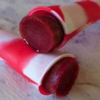Raspberry and apple ice pops (with hidden veggies!)