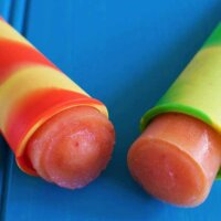 strawberry and mango ice pops