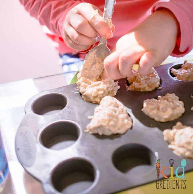 pear and banana breakfast oat and almond muffins