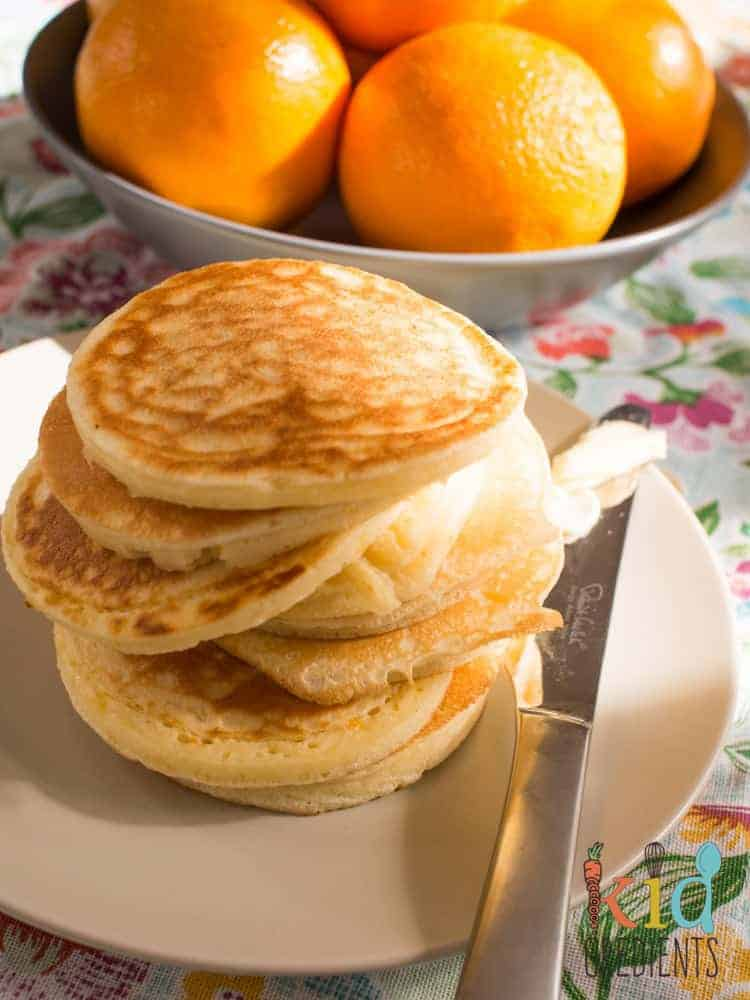 Delicious and easy recipe for orange buttermilk pikelets. Freezer friendly, lunchbox friendly and really yummy!