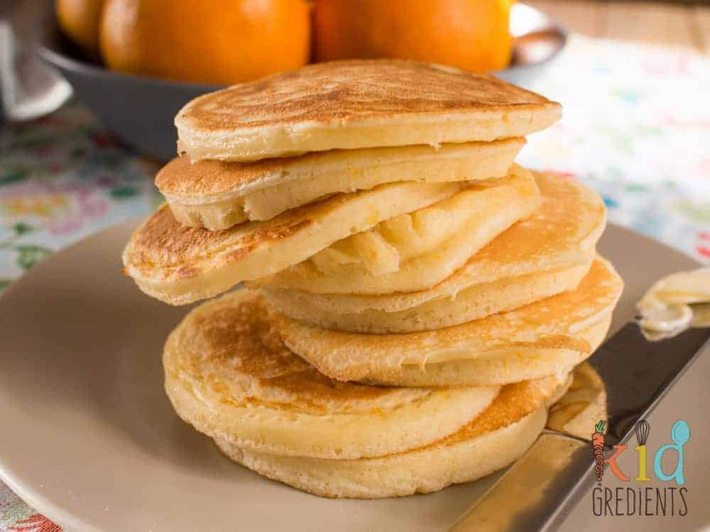 orange buttermilk pikelets