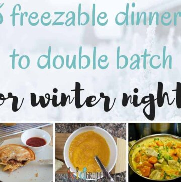 8 freezable dinners