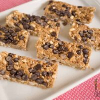 No bake chewy choc chip muesli bars