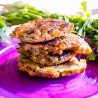 Herby corn and zucchini fritters