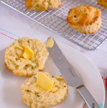 buttermilk, chive and feta scones