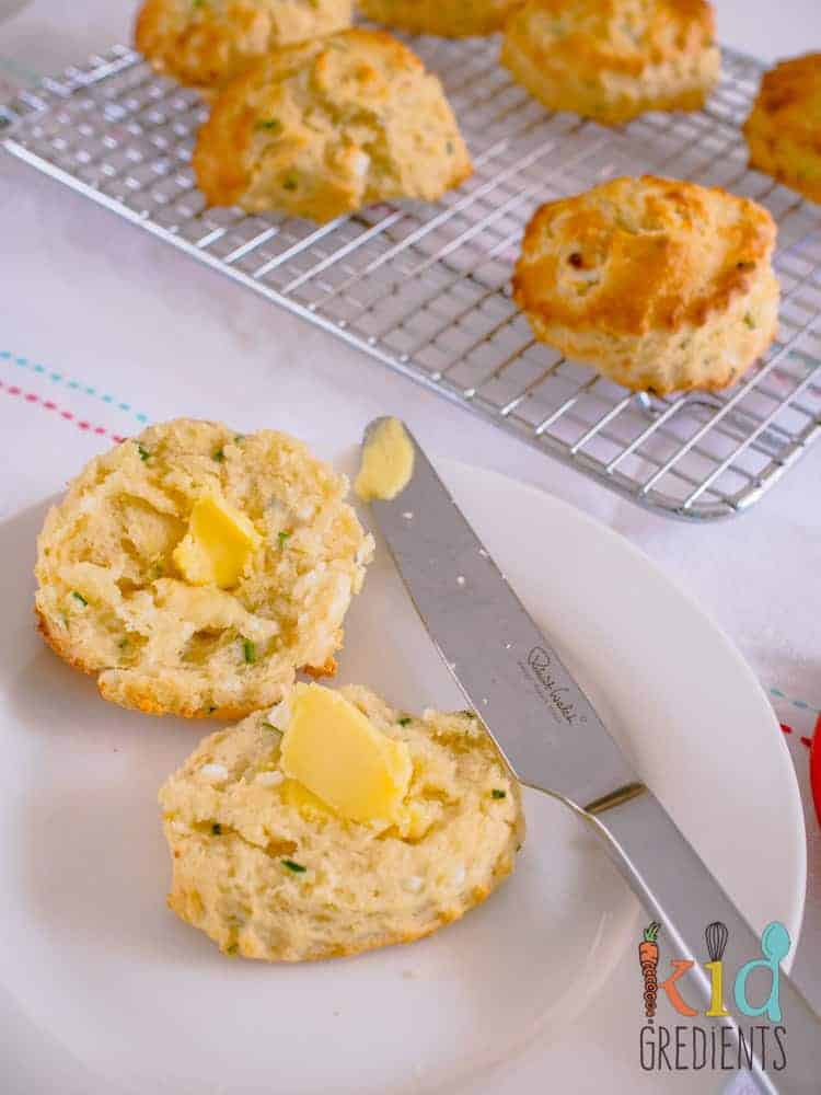 buttermilk, chive and feta scones